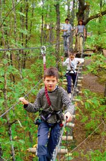 Parcours acrobranche en Dordogne L'Appel de la Forêt